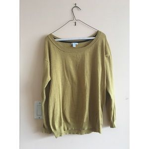 Easy camel boatneck sweater